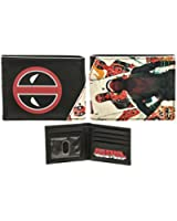 Bioworld Deadpool Marvel Deadpool Wallet- Faux Leather Mens Wallet