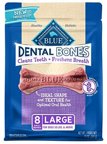 Blue Buffalo Dental Chew Dog Treats Large Dental Bones 12Oz
