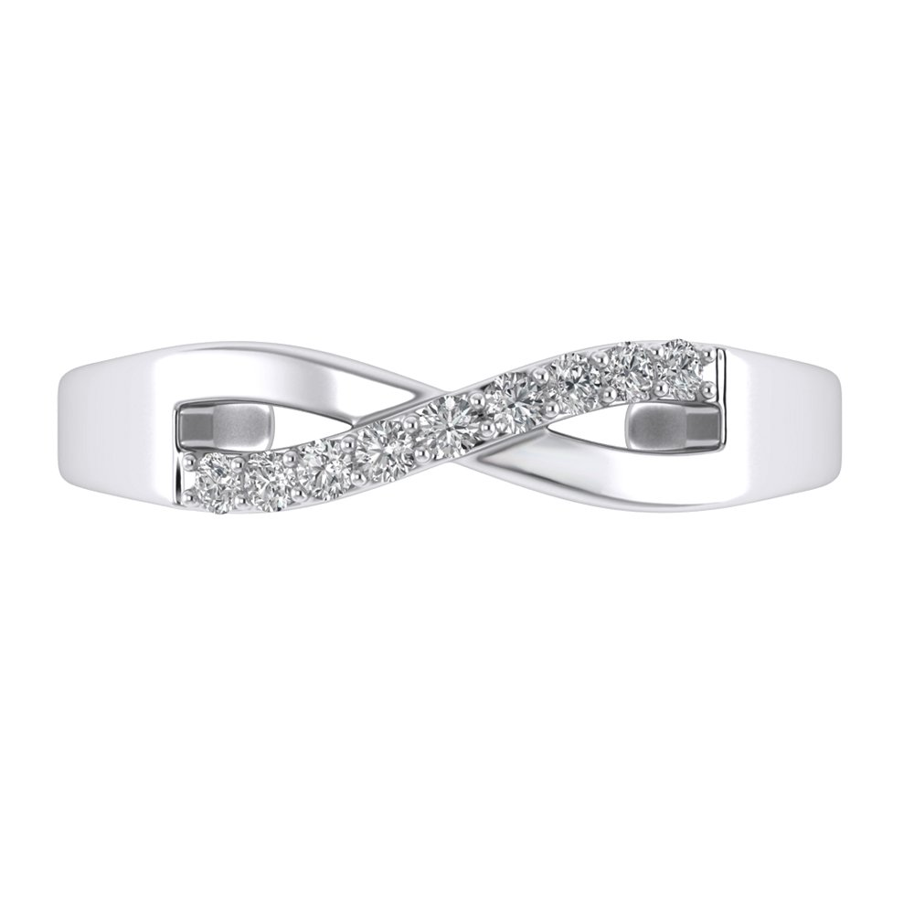 Pretty Jewels White Round Cut Prong Setting Cubic Zirconia 925 Sterling Silver Infinity Women's Adjustable Foot Toe Ring