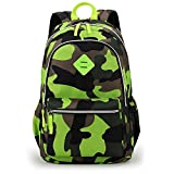 Waterproof Camo Backpack for Elementary & Middle School Kids Bookbag for Military Fans