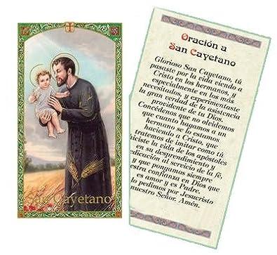 Amazon.com: Oracion a San Cayetano Tarjeta De Rezo Bendecida ...