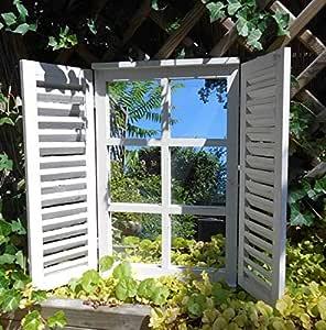 Deko-Impression - Espejo de Pared (59 cm), diseño rústico, Color Crema: Amazon.es: Juguetes y juegos