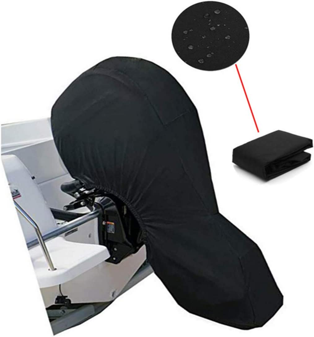 Waterproof Outboard Engine Covers for Motor Black 60-100HP Boat Covers PENCK Outboard Motor Covers Boat Storage Full Cover with 600D Heavy Duty Oxford Fabric