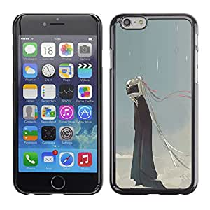 Plastic Shell Protective Case Cover    Apple iPhone 6    Rain Death Monster Blue Clouds Skull @XPTECH