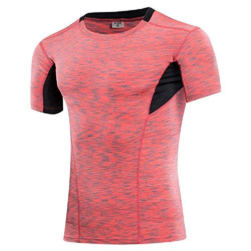 歩道浴極めて重要なfairy heart コンプレッションウェア 着圧 吸汗速乾 スポーツ インナー ウォーキングウェア (XXL, ピンク)