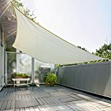 Outsunny Rectangle 10' x 13' Canopy Sun Sail Shade Garden Cover UV Protector Outdoor Patio Lawn Shelter with Carrying Bag (Cream White)