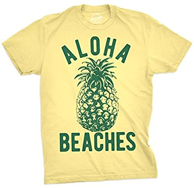 Crazy Dog T-Shirts Mens Aloha Beaches Tshirt Funny Hawaii Summer Vacation Pineapple Tee for Guys