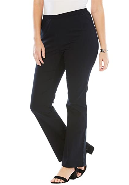 fc9526edeca Roamans Women s Plus Size Bootcut Pull-On Stretch Jean at Amazon ...