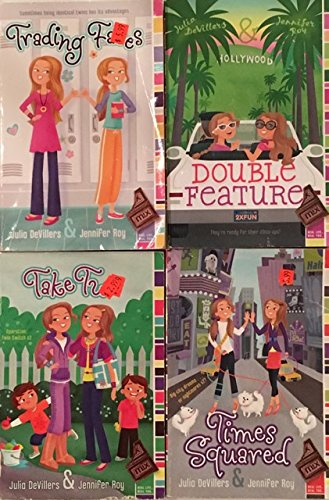 Set of Four MIX Real Life Real You Paperbacks (Trading Faces; Double Feature; Take Two; Times Squared) by Julia DeVillers and Jennifer - Squared Face
