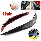 CHAMPLED Decor Silicone Black Carbon Fiber Side Sewn Side Lip Guard Splitter Spoiler Car For BMW M BENZ AUDI VW VOLKSWAGEN VOLVO JAGUAR PORSCHE