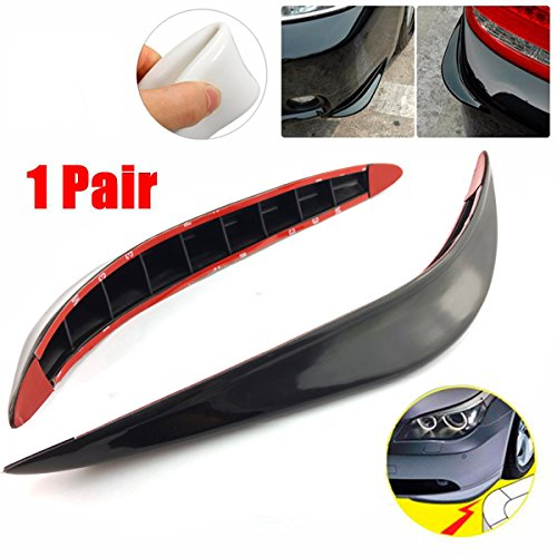 CHAMPLED Decor Silicone Black Carbon Fiber Side Sewn Side Lip Guard Splitter Spoiler Car For HONDA INFINITI KIA HYNDAI DACIA DAEWOO