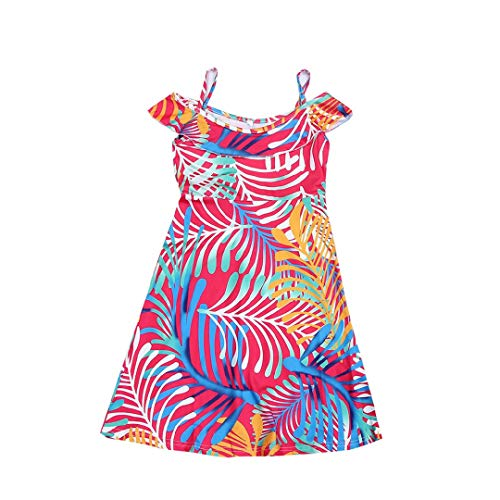 Mother and Baby Girl Dress Floral Print Family Dress Round Neck Boho Maxi Beach Dresses Toponly