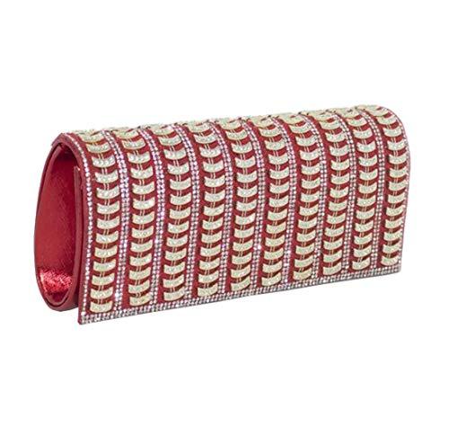 Main Rouge Diva Small Femmes à Embellissement Haute Diamant Sac pour Argent 0qwOvO