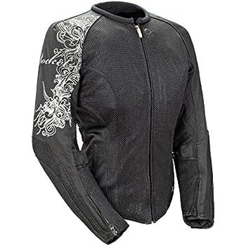 BILT Womens Grace Leather Motorcycle Jacket 3XL Black