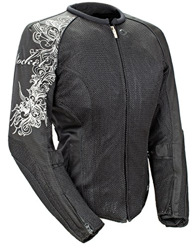 (Joe Rocket Cleo 2.2 Women's Mesh Jacket (Black/Black, X-Large))