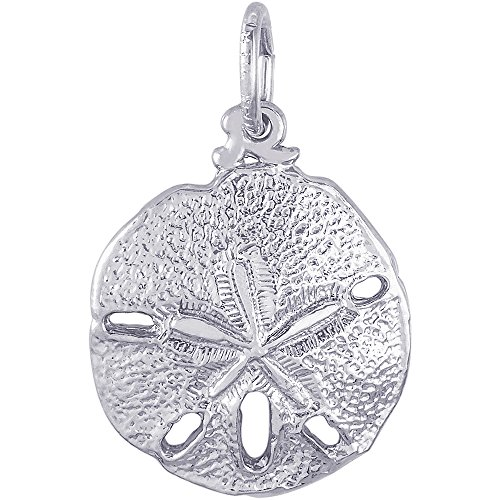 Rembrandt Charms 14K White Gold Sand Dollar Charm (0.59 x 0.59 inches) by Rembrandt Charms (Image #2)