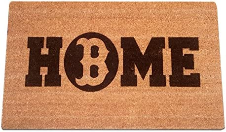 Boston REDSOX Home Laser Engraved Coir Fiber Welcome Doormat 30 x 18