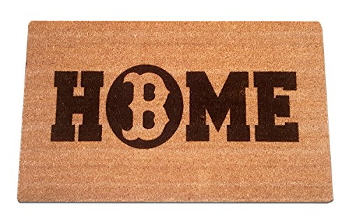 BOSTON REDSOX Home Laser Engraved Coir Fiber Welcome Doormat 30