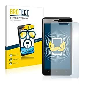 2x BROTECT HD-Clear Protector Pantalla Prestigio MultiPhone 5500 DUO PAP5500DUO Película Protectora – Transparente, Anti-Huellas