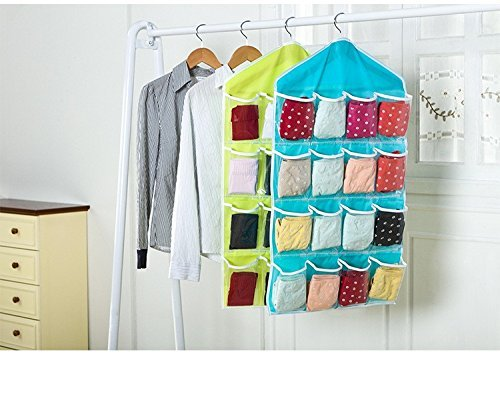 SUKHAD Wall Mounted 16 Grid Storage Bag for Clothing, Accessories, Small Gadgets, Slippers, Toys Organizer, 80 X 42 cm, Multicolour