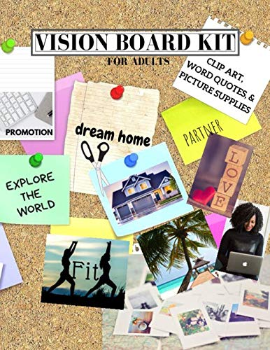 Vision Board Kit for Adults: Clip Art, Word Quotes, & Picture Supplies | Creative Motivational Visua