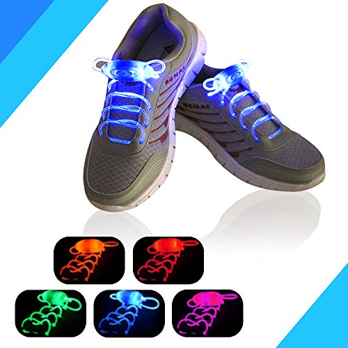 [LED Shoe Laces, AYAMAYA Light Up Glow Flashing Shoelaces with 3 Modes for Halloween Party Dancing Running Cycling,] (Dance Central Halloween Costumes)