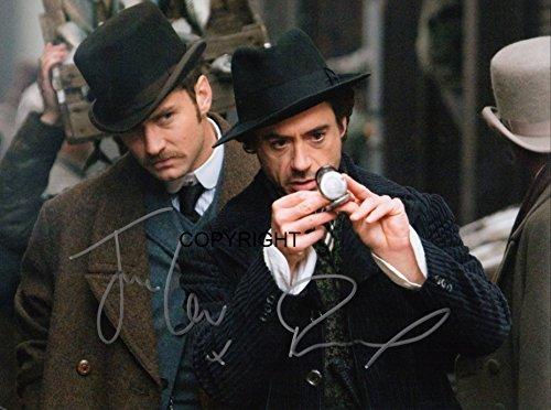Robert Downey Jr Jude Law Sherlock fotografia firmato edizione limitata + stampato Autograph THEPRINTSHOP