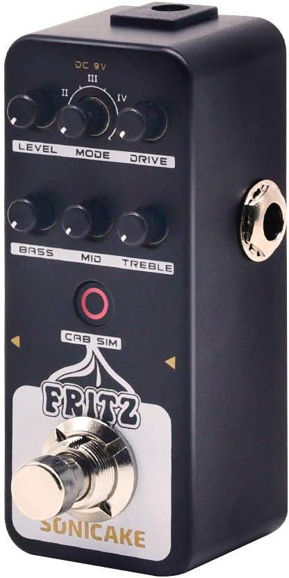 SONICAKE Preamplificador digital Fritz Vintage Retro Overdrive ...