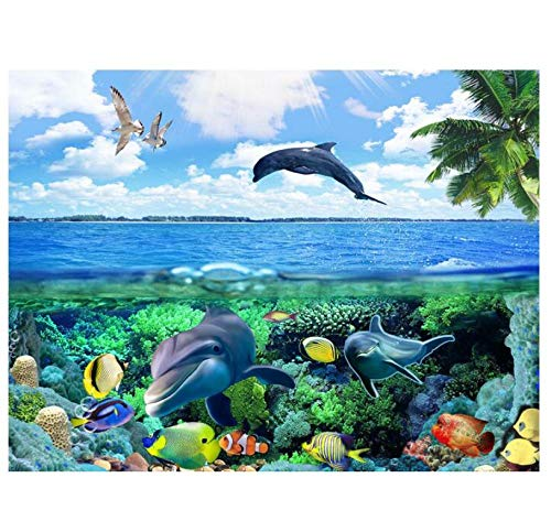 3D Wallpaper Mural Wall Stickers 3D World to The Surface of The sea Painting Photo 3D Wall murals wallpaper-280x180cm