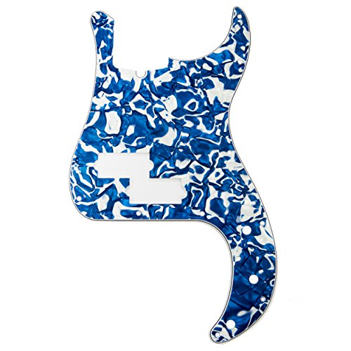 D'Andrea Precision Bass Pickguards for Electric Guitar, Blue Swirl (Swirl Picks)