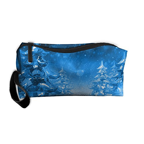 Cosmetic Bags Brush Pouch Portable Makeup Bag Christmas Background Free Download Wallpapers9 Zipper Wallet Hangbag Pen Organizer Carry Case Wristlet Holder