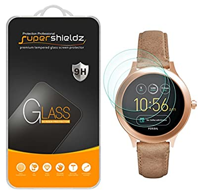 [3-Pack] Supershieldz for Fossil Q Venture Gen 3 Smartwatch Tempered Glass Screen Protector, Anti-Scratch, Bubble Free, Lifetime Replacement Warranty