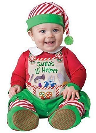 29e490a64 Deluxe Baby Boys Girls Santa s Little Helper Elf Christmas In Character  Fancy Dress Costume Outfit (6-12 months)