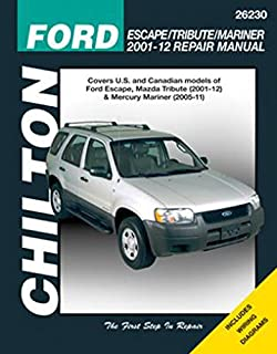 Ford escape and mazda tribute 2001 2012 with mercury mariner repair chilton 26230 repair manual fandeluxe Images