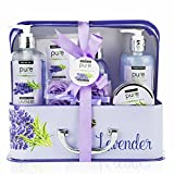 Spa Basket for Women! Lavender Essential Oil Gift Set Beauty Gift For Her! Large Spa Basket with Lavender Bubble Bath, Best Gifts for Women! Womens Pampering Gift Sets for Home Spa Kit! Review