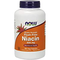 海外直送品Now Foods Flush-Free Niacin, 180 Vcaps 500mg