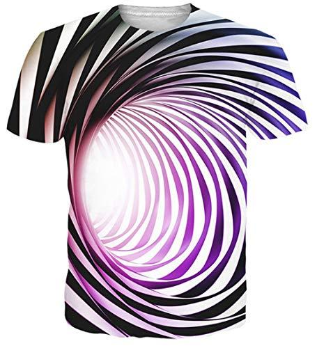- NEWISTAR Men 3D Short Sleeve Tee Cool Graphic Tees Novelty Printed Short Sleeve t-Shirts