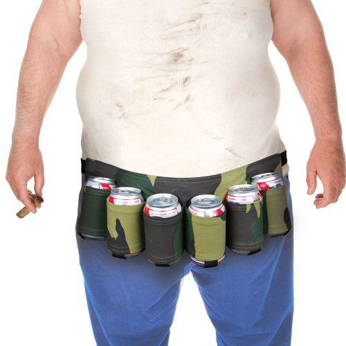 BigMouth Inc Beer Belt / 6 Pack Holster(Camo)