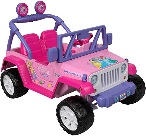 Power Wheels Disney Princess Jeep Wrangler (Barbie Power Wheels Jeep Battery)