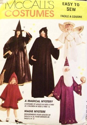 OOP McCall's Costume Pattern 7838. Adult Szs S; M; L; XL Wizard; Witch; Angel; Phantom; Red Riding Hood (Witch Costume Patterns For Adults)