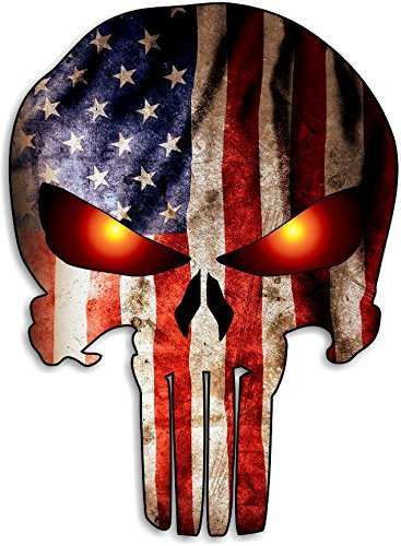 Punisher Skull American Flag Car Motorcycle Bicycle Skateboard Laptop Luggage Vinyl Sticker Graffiti Laptop Luggage Decals Bumper Stickers for $<!--$3.49-->