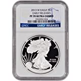 2013 W American Silver Eagle Proof $1 PF70 UCAM - Early Releases NGC
