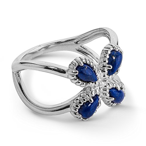 (Carolyn Pollack Sterling Silver Blue Lapis Gemstone Ring Size 8)