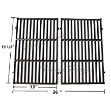 Hongso PCG524 Cast-Iron Cooking Grates Replacement for Weber 7524, fits Weber E-330 Grills and Selected Charmglow Grills, Set of 2