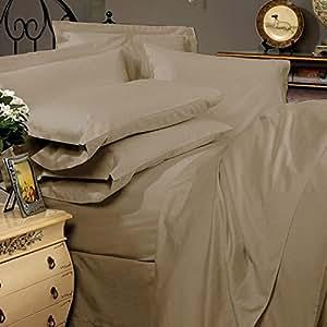 1 pieza sábana --- 500 Euro eggelston Taupe sólido Número de hilos rey 100% algodón egipcio Extra profundo bolsillo (21 Inche) - as1