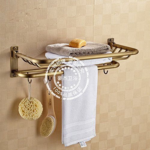 WDBM Continental-Wide cobre bastidores antiguos WC Baño Toallero toallero: Amazon.es: Hogar