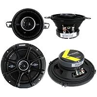 2) Kicker 41DSC354 3.5 80W + 2) 41DSC654 6.5 240W 2-Way Car Coaxial Speakers