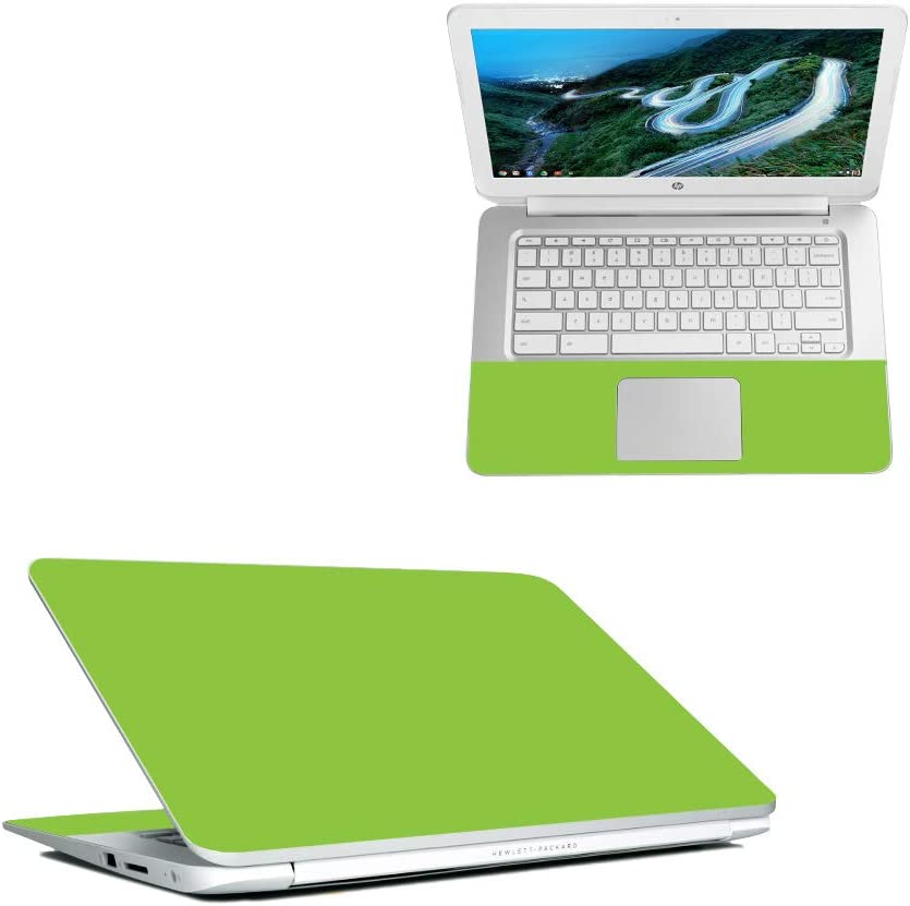 """MightySkins Skin Compatible with HP Chromebook 14"""" (2018) - Solid Lime Green 
