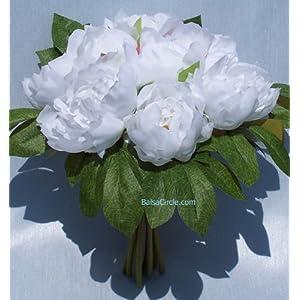 Silk Peonies Bouquet - Wedding Flowers 32