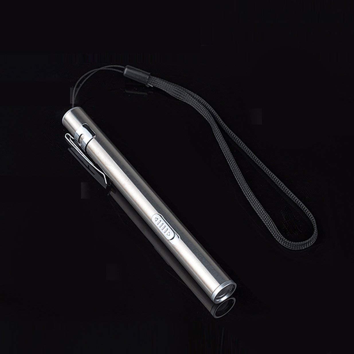 Sairis Mini Impermeable de Acero Inoxidable Potente Linterna LED Linterna port/átil Recargable